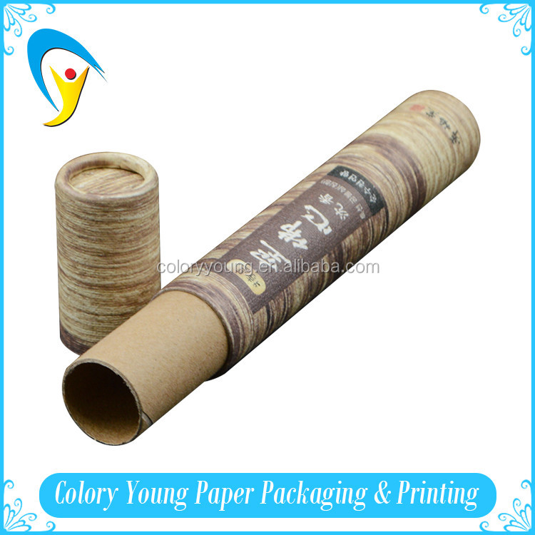 Strong Round Kraft Cardboard Box Recyclable Kraft Paper Tube With Lid