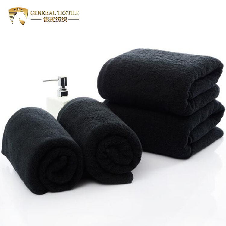 bleach proof 100% Cotton 16S 40cm*80cm 180g black spa hair salon <strong>towel</strong>