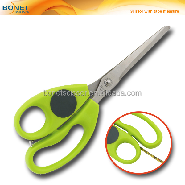 "S67001A FDA qualified 9-1/4"" Stainless Steel blades tape measure stationery scissors"
