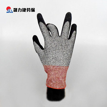 Low price safety working rubber coated cut resistant gloves