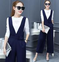 zm32149a elegant women formal blouse and pants two pieces soft cotton plain tshirts set