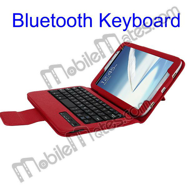 Wireless Bluetooth Keyboard Leather Case for Samsung Galaxy Note 8.0 N5100 N5110 Support Bluetooth 1.1 3.0 4.0