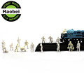 1:25 Color White Yellow miniature plastic architectural scale model train figures