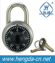 YH1266 gym combination lock safety Round timer padlock with keys