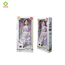 Custom Paper Doll Packaging Display Boxes With Clear Window