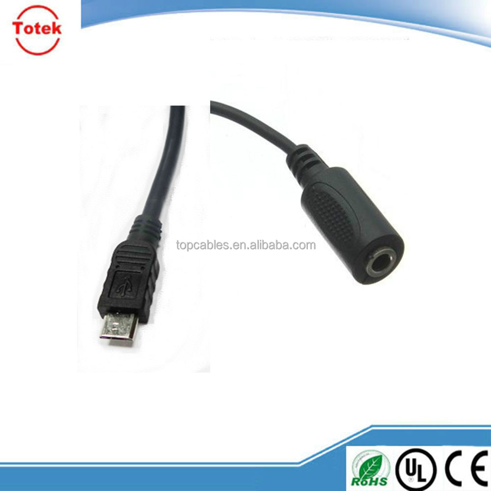Micro usb Jack TO 3.5mm Stereo Female Audio Adapter Cable