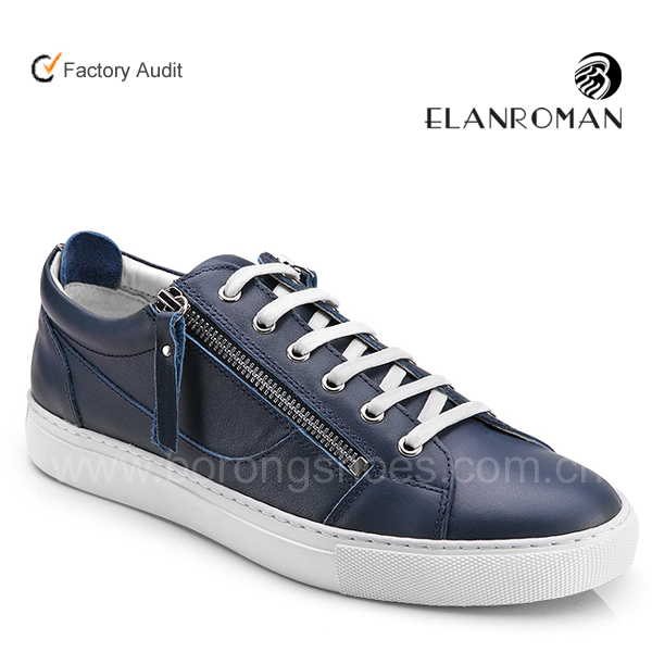 High-end quality breathable fashion leather casual shoes for men sneakers