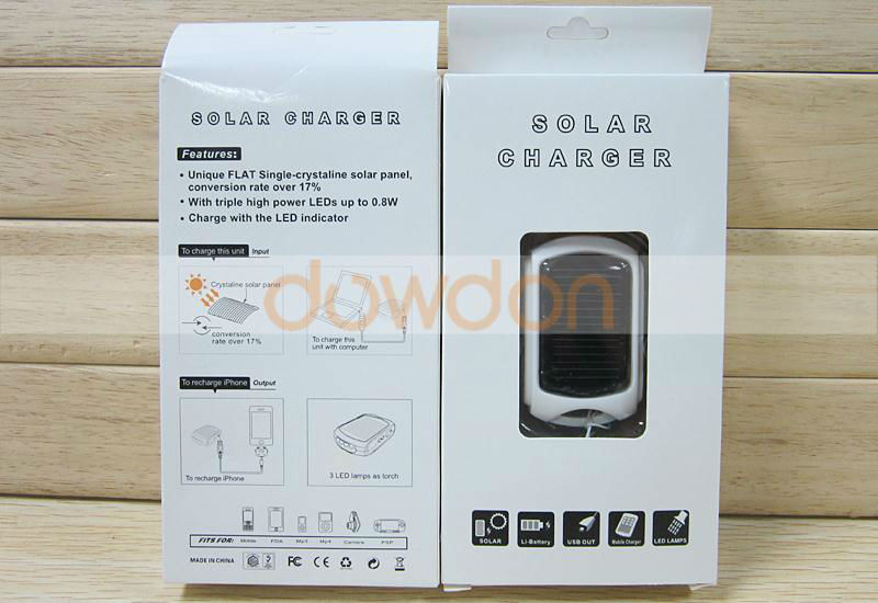 Hot Selling Keychain Solar Charger 600mAh with LED Light
