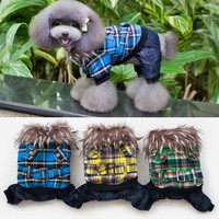 Designer Check Coat for Small Dogs Wholesale Check Shirt Pattern Dog Clothes