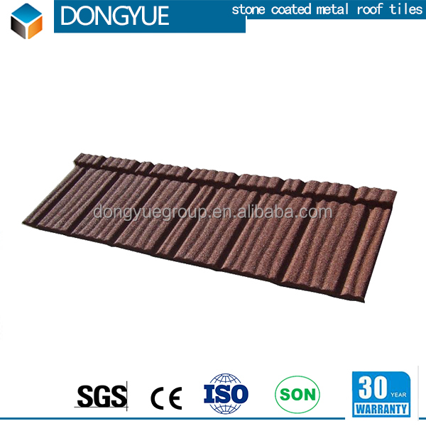 Chinese antique classical sand coated steel roofing tile/metal roof tiles