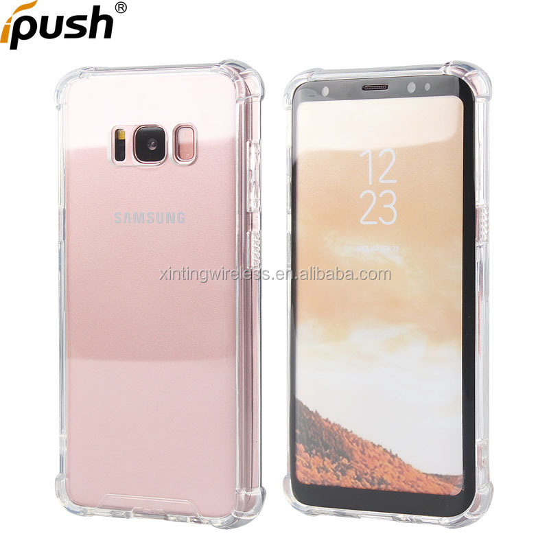 Factory price phone case for samsung galaxy s8 shockproof clear transparent case for s8 case back cover for samsung s8