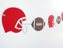 Football Paper Garland 5 ft.home decorations/Playing Card garland/Suite Symbols Paper