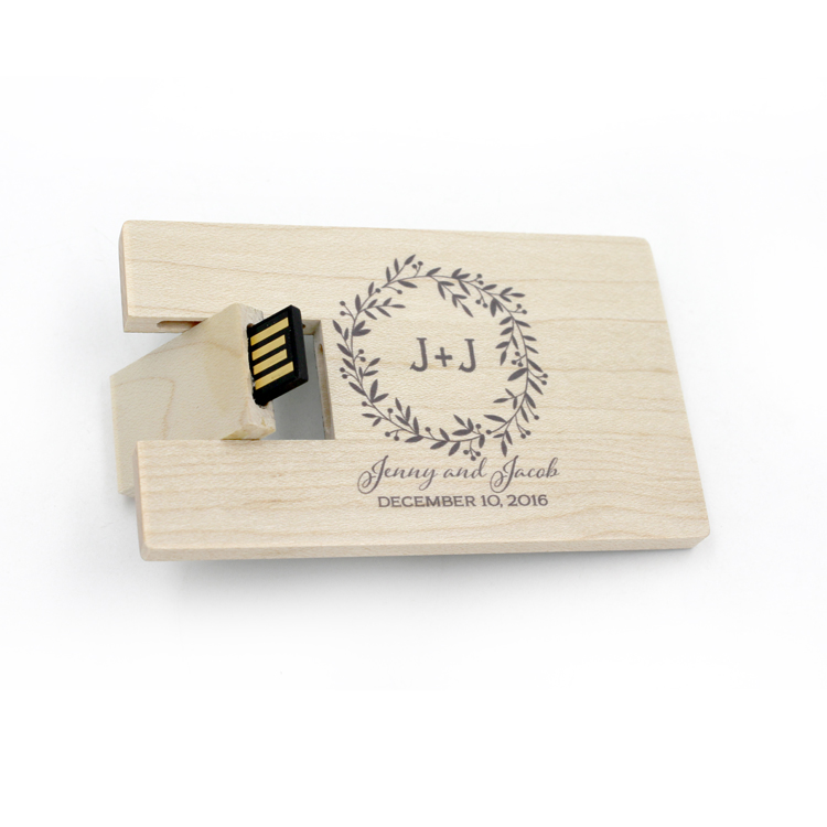Cheap Bulk Items Wooden USB 2.0 3.0 Credit Card Memory Disk