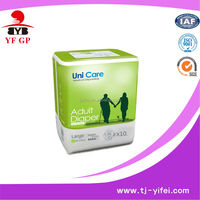 high quality cute european adult diapers with velcro pulp sap tape