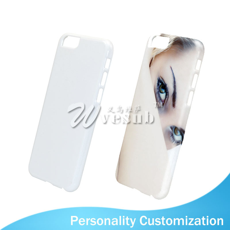 Latest Customized Unique 5.5 Inch Clear Plastic 3D Sublimation Blank Cell Phone Case For iPhone 6 Plus