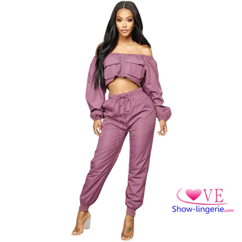 Spring Fashion Women Sport Two Piece Casual Pants Clothing Set