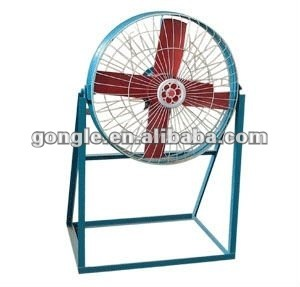 free-standing axial extractor fan for workshop, garage,mining tunnel and poultryhouse etc