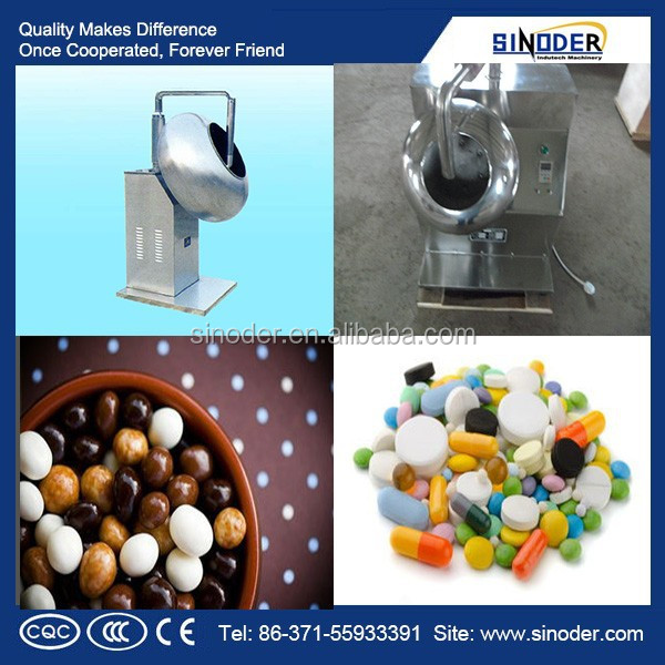 Snack food sugar glazing machine, Chocolate Bean Sugar Coating Machine , tablet coating machine