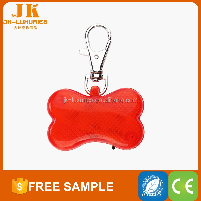 Reflective id tag pet safety light bone tags