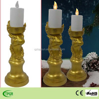 Christmas deer decoration led candle solar light