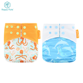 square wing Happy Flute OEM OS waterproof pul suede pocket cloth diaper