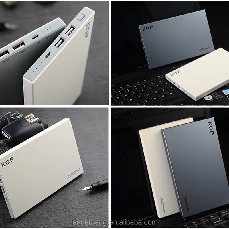 Portable polymer power bank 20000mah charger with double USB port
