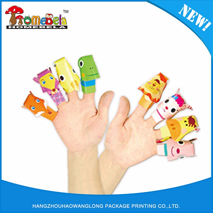 Manufacture from China paper puppet finger shoes toy,finger toys