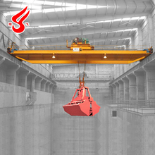 Double girder grab bridge traveling crane