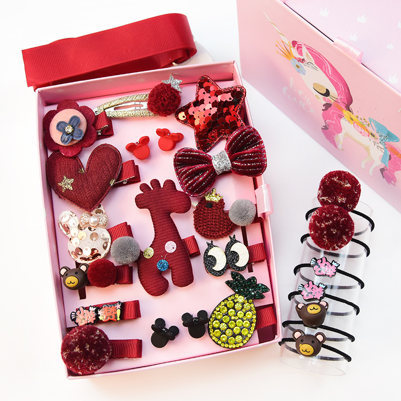 2019 new fashion 24pieces/Set Wholesale Hand Made Baby <strong>Hair</strong> <strong>Accessories</strong> Set Star Butterfly Metal <strong>Hair</strong> Clips