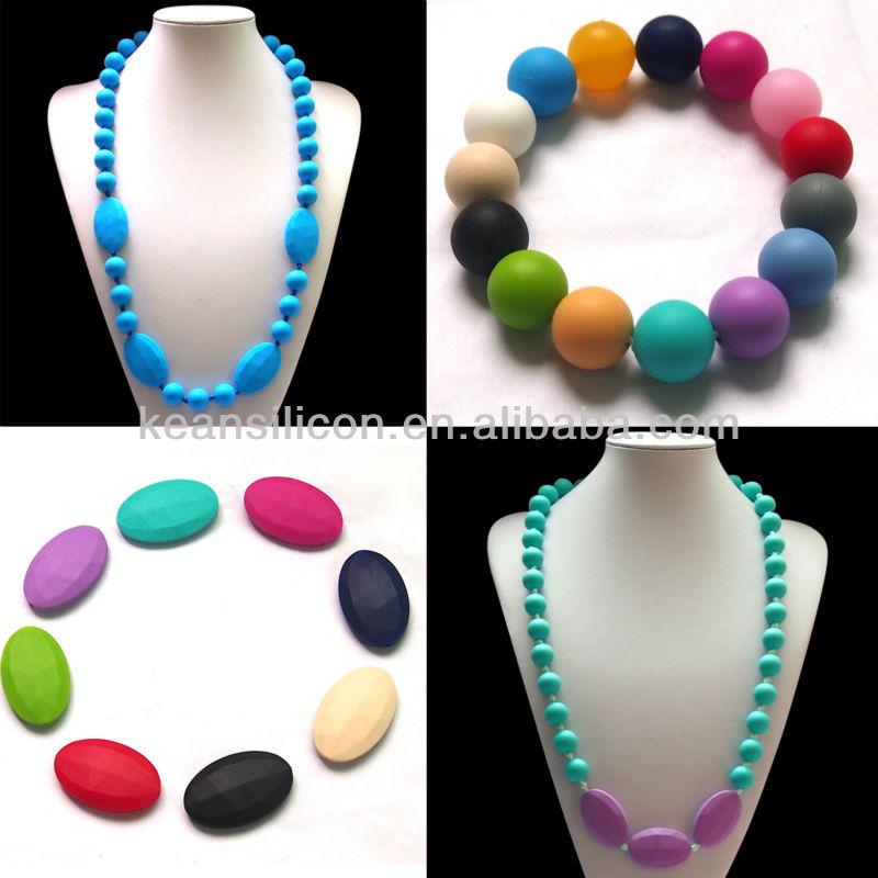 Silicone Teething Chew Beads For Jewelry Set Wholesale