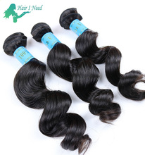 Custom Brand Name Short Loose Wave X-pression Human Hair Weave