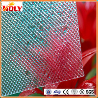 Building plastic material housing decoration colored polycarbonate embossed sheet