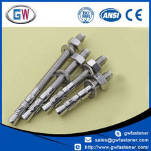 Wedge type anchor bolts/304/316 Stainless Steel Wedge Anchor Bolt M6-M24