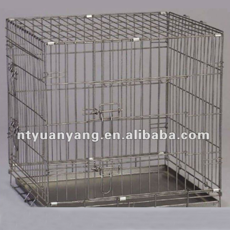 professional customized black pet steel cage
