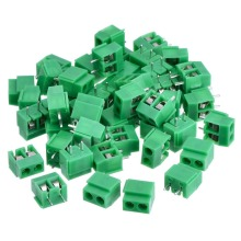 2 Pin 5.0 mm Pitch PCB Mount Screw Terminal Block Connector 300V 10A (Green)