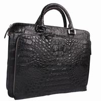 2015 Fashional designed men handbag exotic leather real croc men's bag