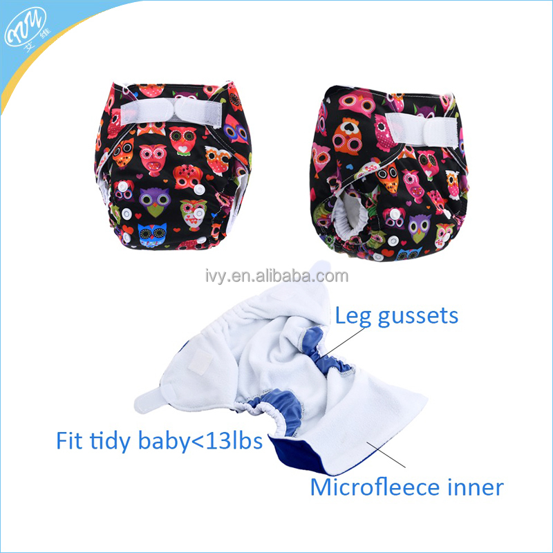 New Popular Printed Washlable Reusable Gusset Cloth Diaper Baby Nappy Pant