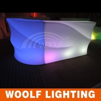 illuminate mobile led bar counter,top lighted bar counter cheap western style bar counters design