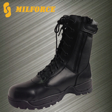 Milforce new deisgn waterproof all leather military police tactical boots