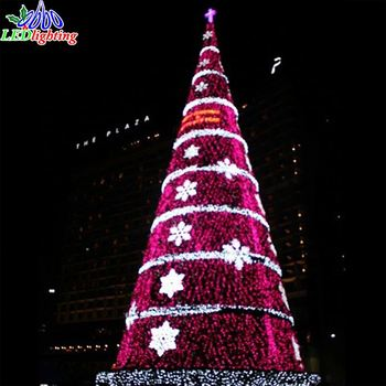 Factory Price giant outdoor 3d led christmas tree with star