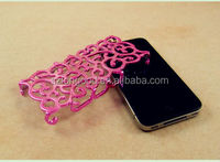 Luxury Chrome Hollow Pattern PC Hard Back Case Cover for iPhone5