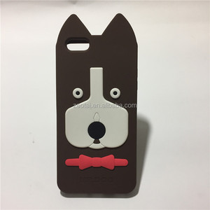 New Arrival 3D Cute Cartoon Rubber Phone Case Cover For Mobile phone 4 4S 4G 5 5S 5G 6 6S 4.7 6 plus 5.5