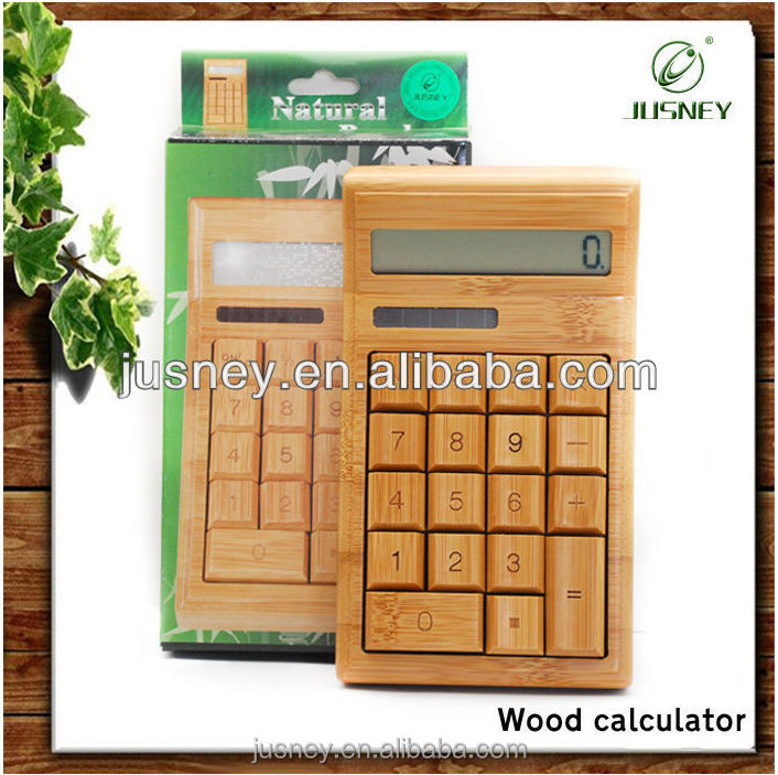 100% Real bamboo solar calculator with nice packing