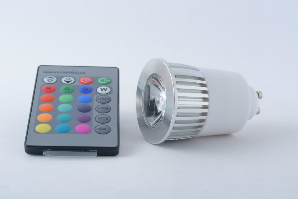 mr16 gu10 dimmable rgb 16 colors 440lms 5w led fancy light