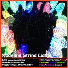 Pinecone style RGB color modeling string light LED fairy lights