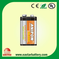 Original Quality 6F22 6lr61 9v battery manufacturer super heavy duty battery