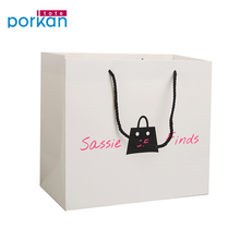China Goods Wholesale White Handmade Designs Large Paper Bags