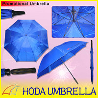 Navy blue manual strong windproof double air vent canopy golf umbrella