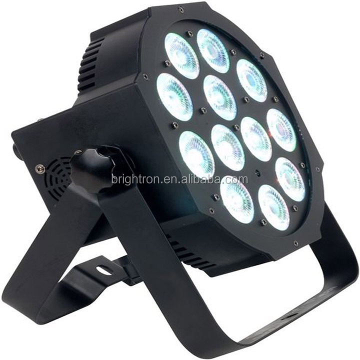 led flat par light 12*18W RGBAW+UV LED 6in1 Par can light