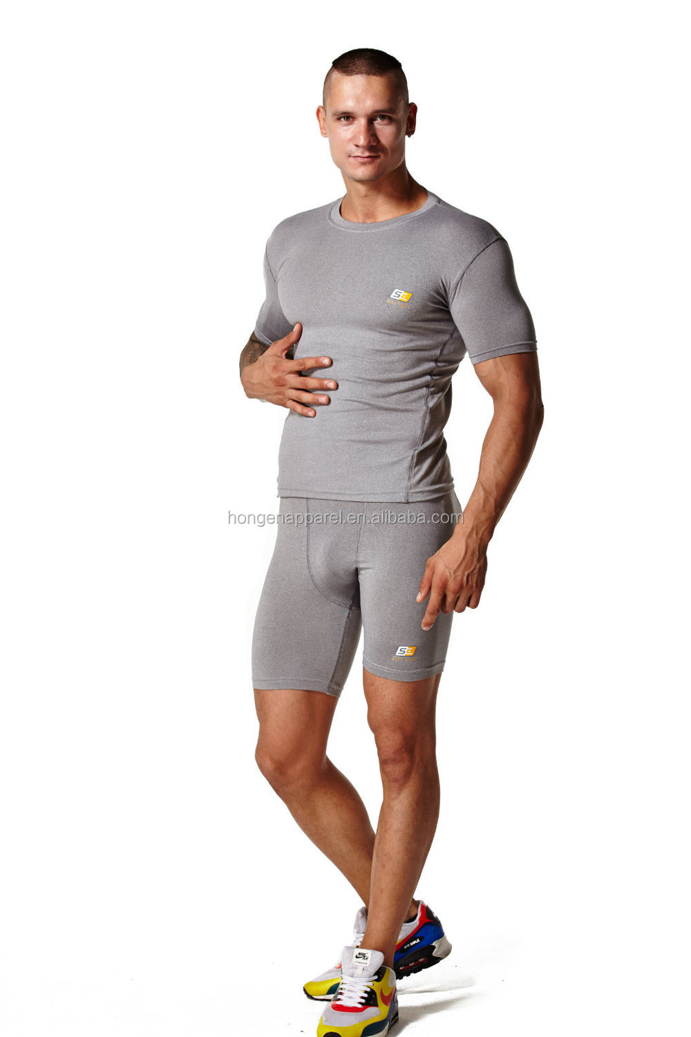 Hongen apparel High quality compression gear, Custom-made Performance Cheap New Style Compression Shirts